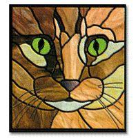 Cat Templates Clip Art Stained Glass Patterns Pumpkin